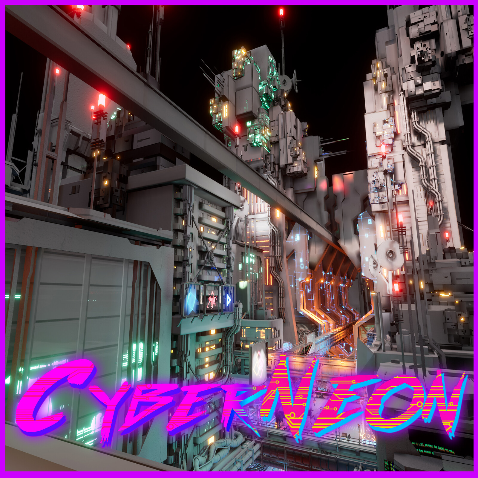 赛博朋克:霓虹中国 (CyberNeon) Environment Assets And City Layout