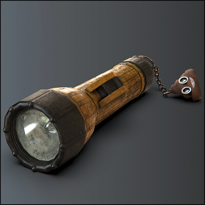 Flashlight & poo chain - game asset