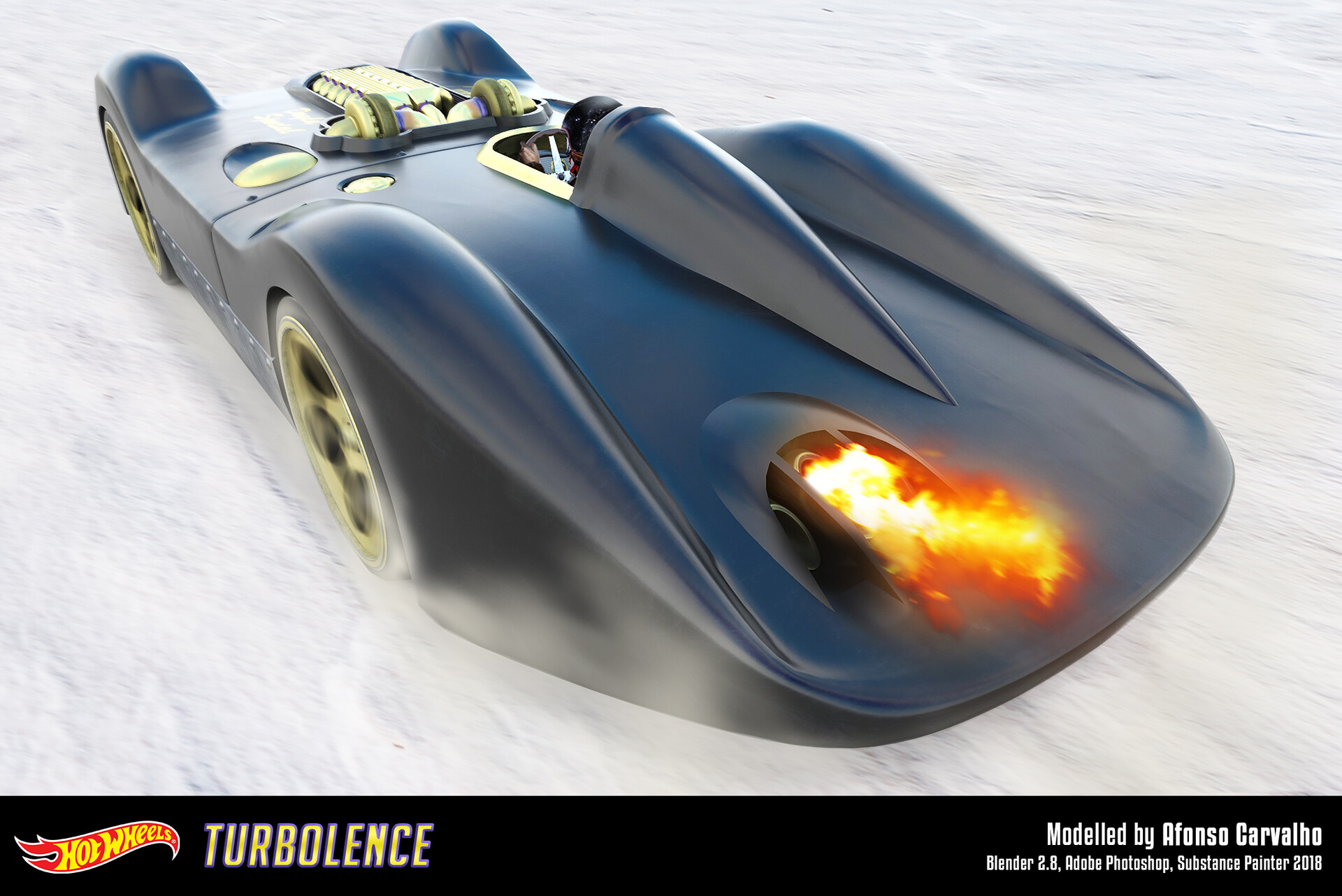Artstation Hot Wheels Turbolence Dayla Special Custom Made Engine And Interior Afonso Carvalho