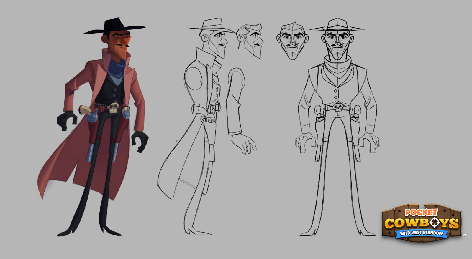 Character designs for Pocket Cowboys (part 1).