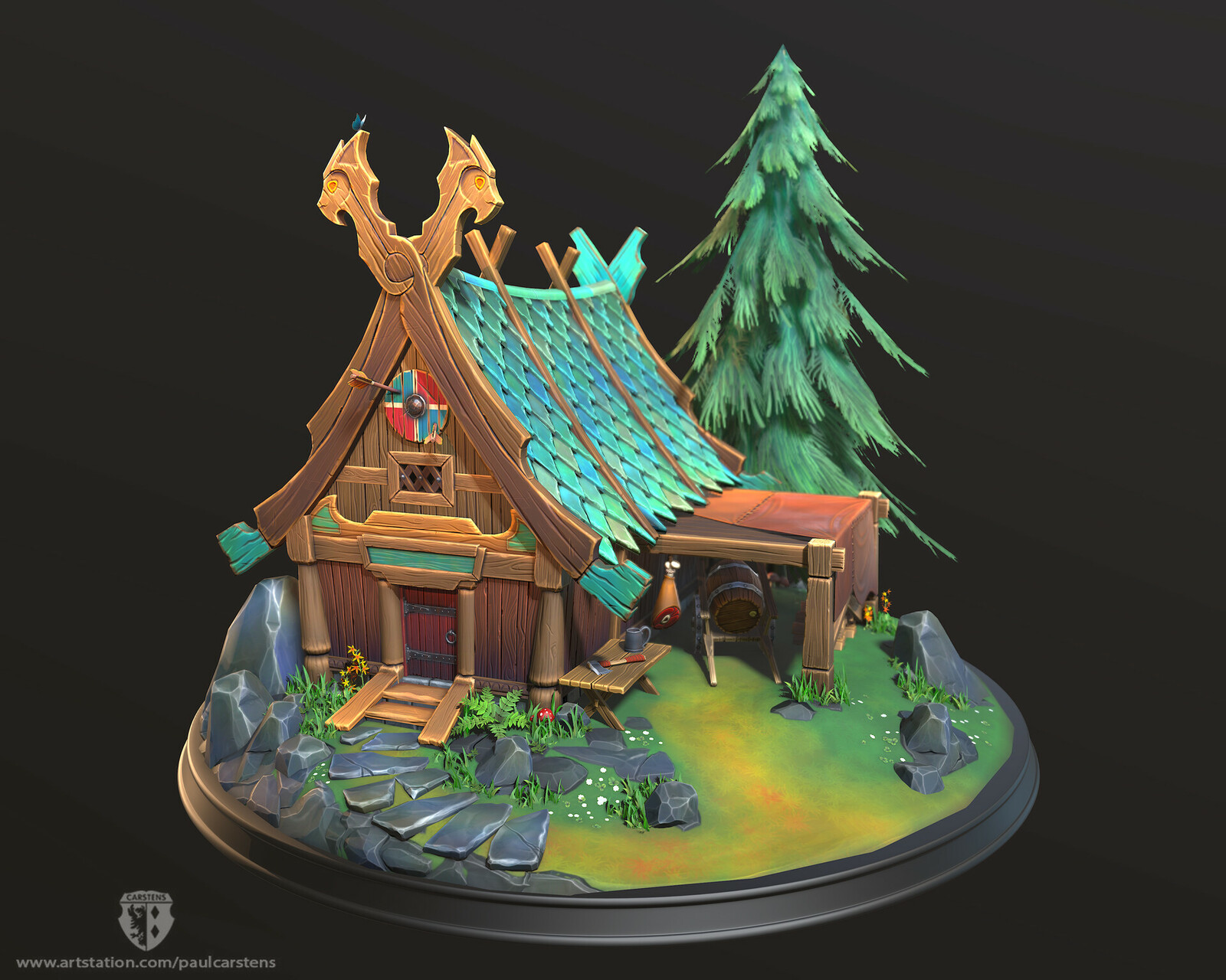 Stylized Nordic Cabin