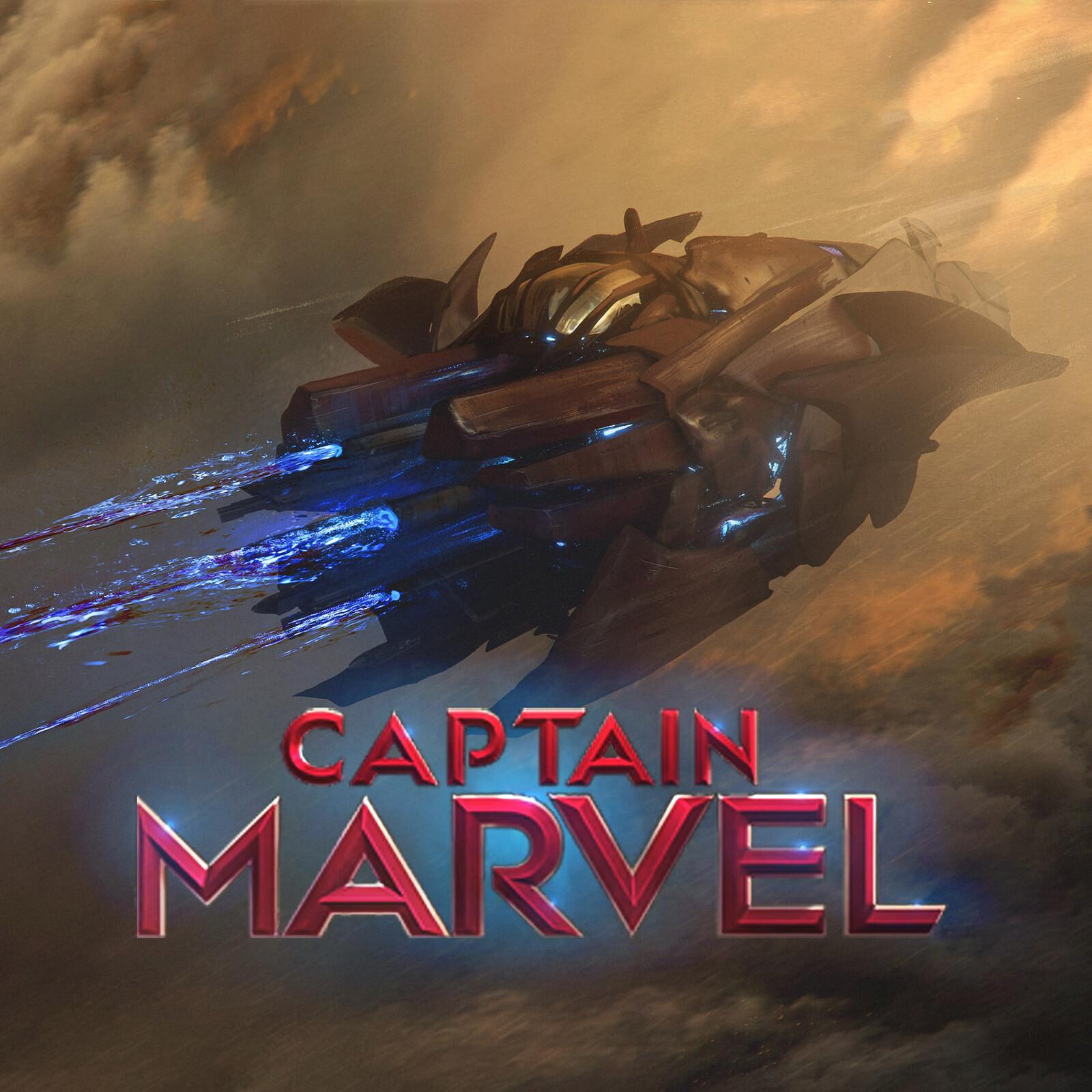 Captian Marvel SkrullShip