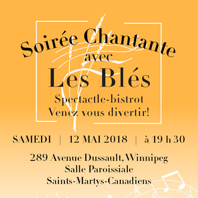Les Bles Choir poster and ticket design