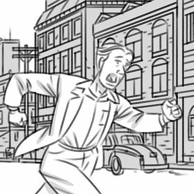 """The Diner Moderne"" storyboard animatic"
