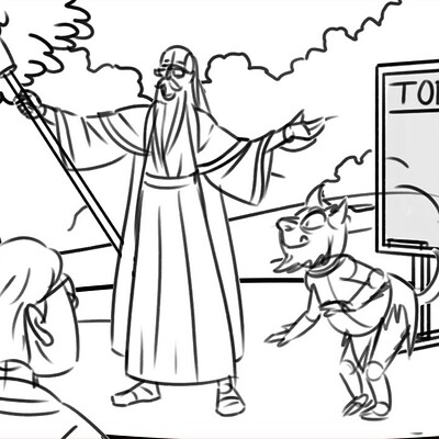 Wizard School Storyboard Sequence