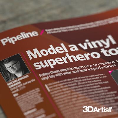 3D artist tutorial: Model a Vinyl Superhero toy