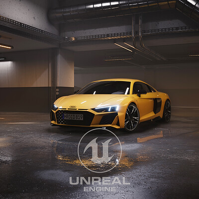 Audi R8 2019 - Automotive rendering in Unreal Engine