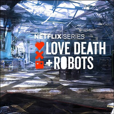 Love Death + Robots - Three Robots - Mall location Concept art