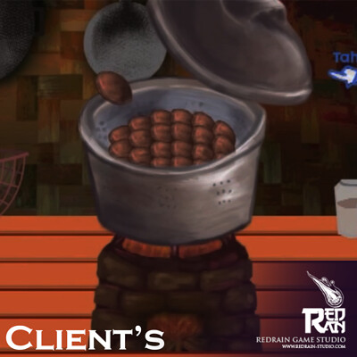 Redrain game studio cooking banjar title