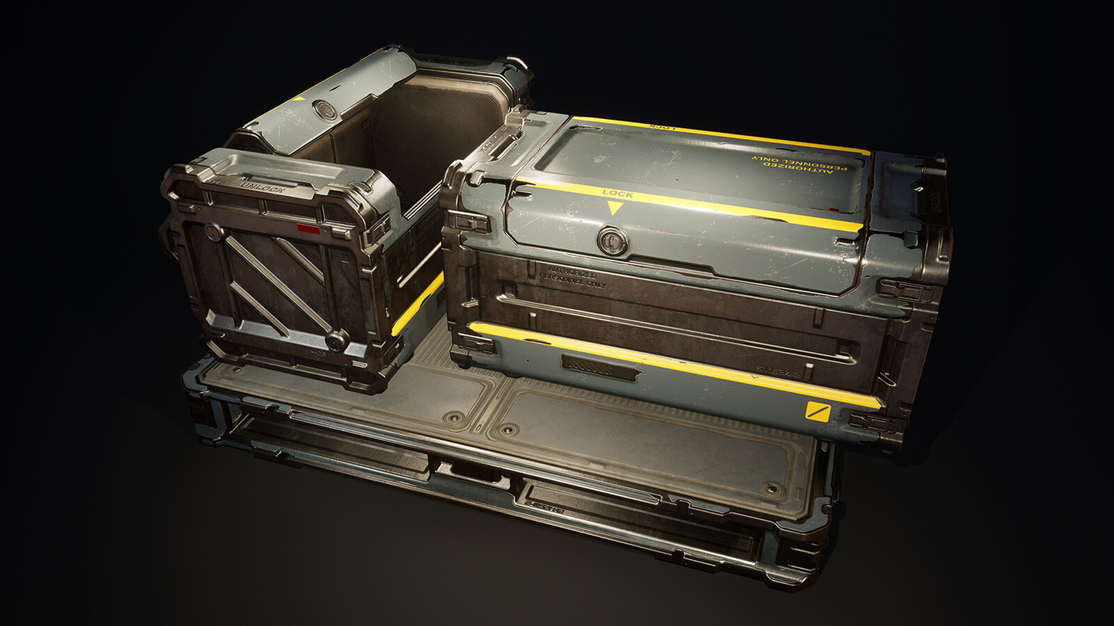 Sci-Fi Crates Pack - UE Marketplace