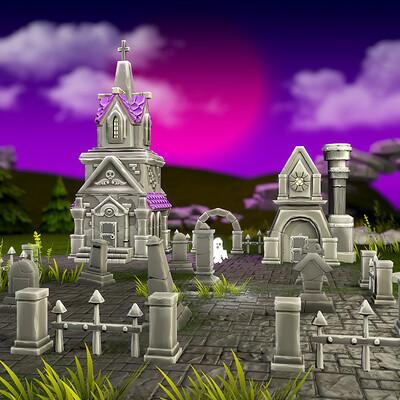 Vlada romaieva cemetery medieval rendering3