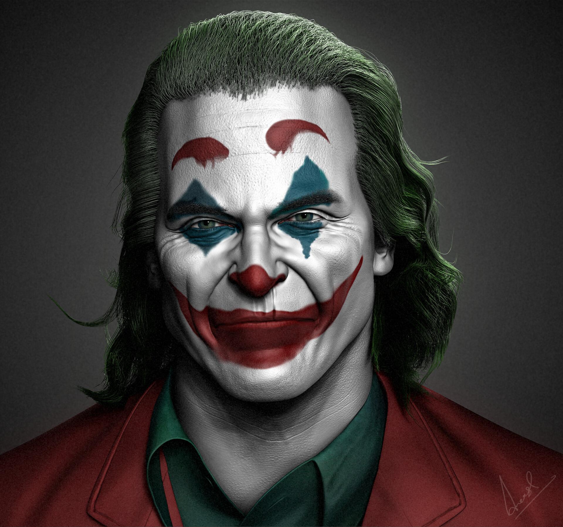 Artstation Joaquin Phoenix Joker Zbrush Aneesh
