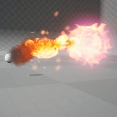 VFX Fireball Effect