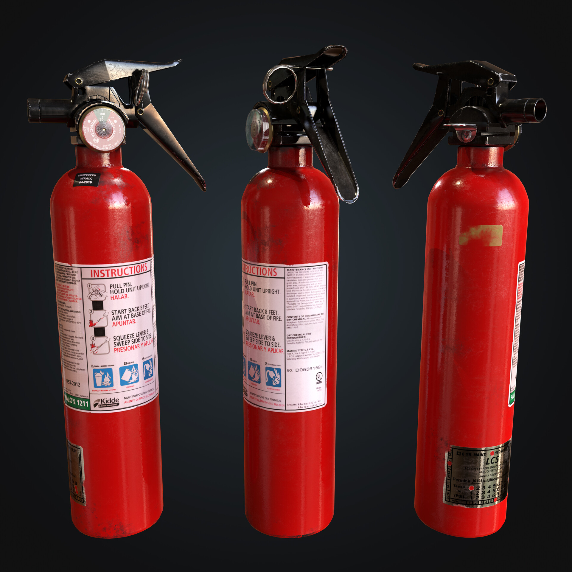 ArtStation - Handheld Fire Extinguisher, Ali Ghadimi