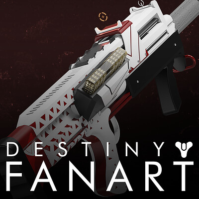 Vanguard Assault Rifle   Destiny 2 Fan Art