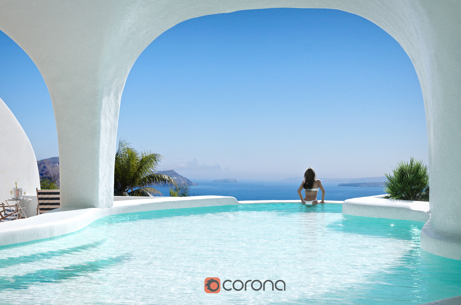 Santorini - Corona Renderer
