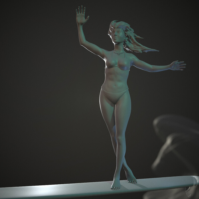 Surfer Girl | Zbrush Sculpt Study