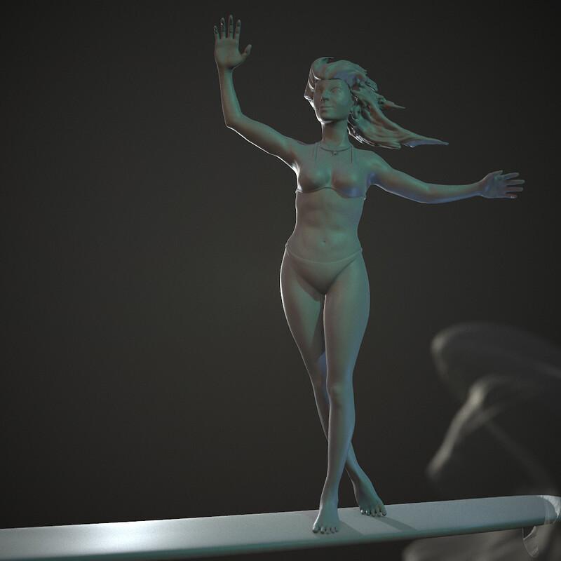 Surfer Girl | Zbrush Sculpt Study