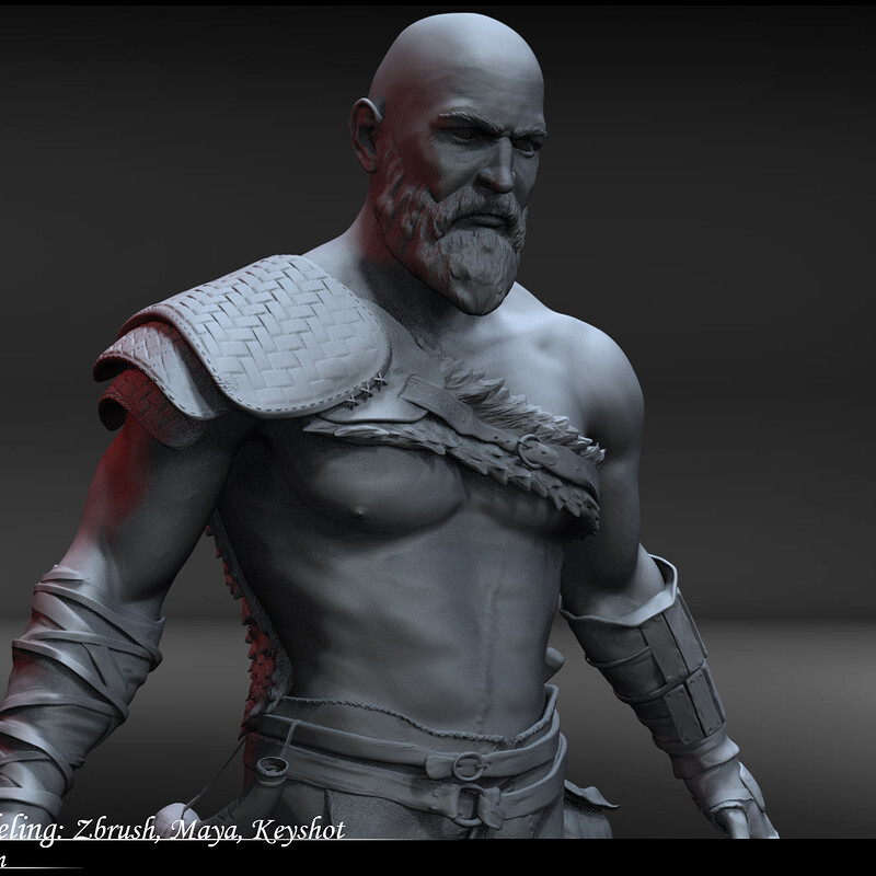 Kratos Character Modeling;