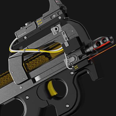 Epoch   Scorpion Series FN P90 Submachine Gun