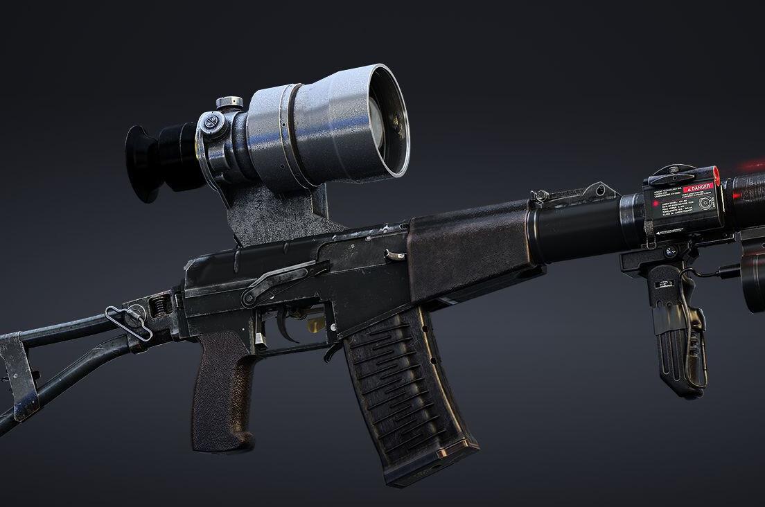 AS VAL silent assault rifle