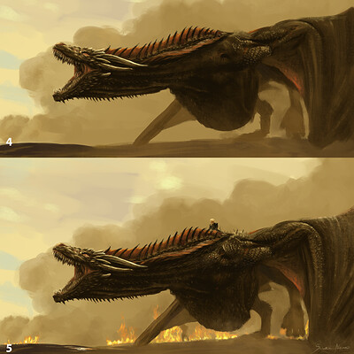 Color study, painting process. Game of Thrones theme art.