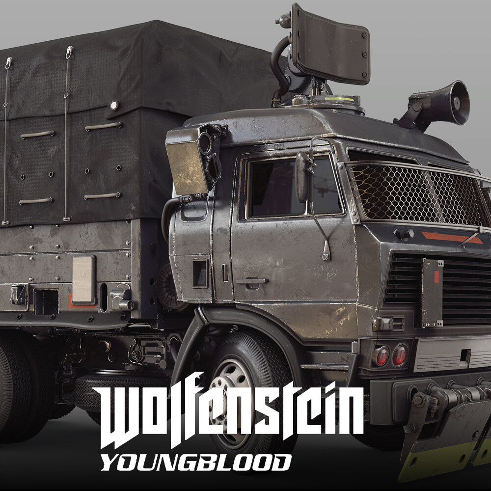 Wolfenstein: Youngblood - Truck HighPoly