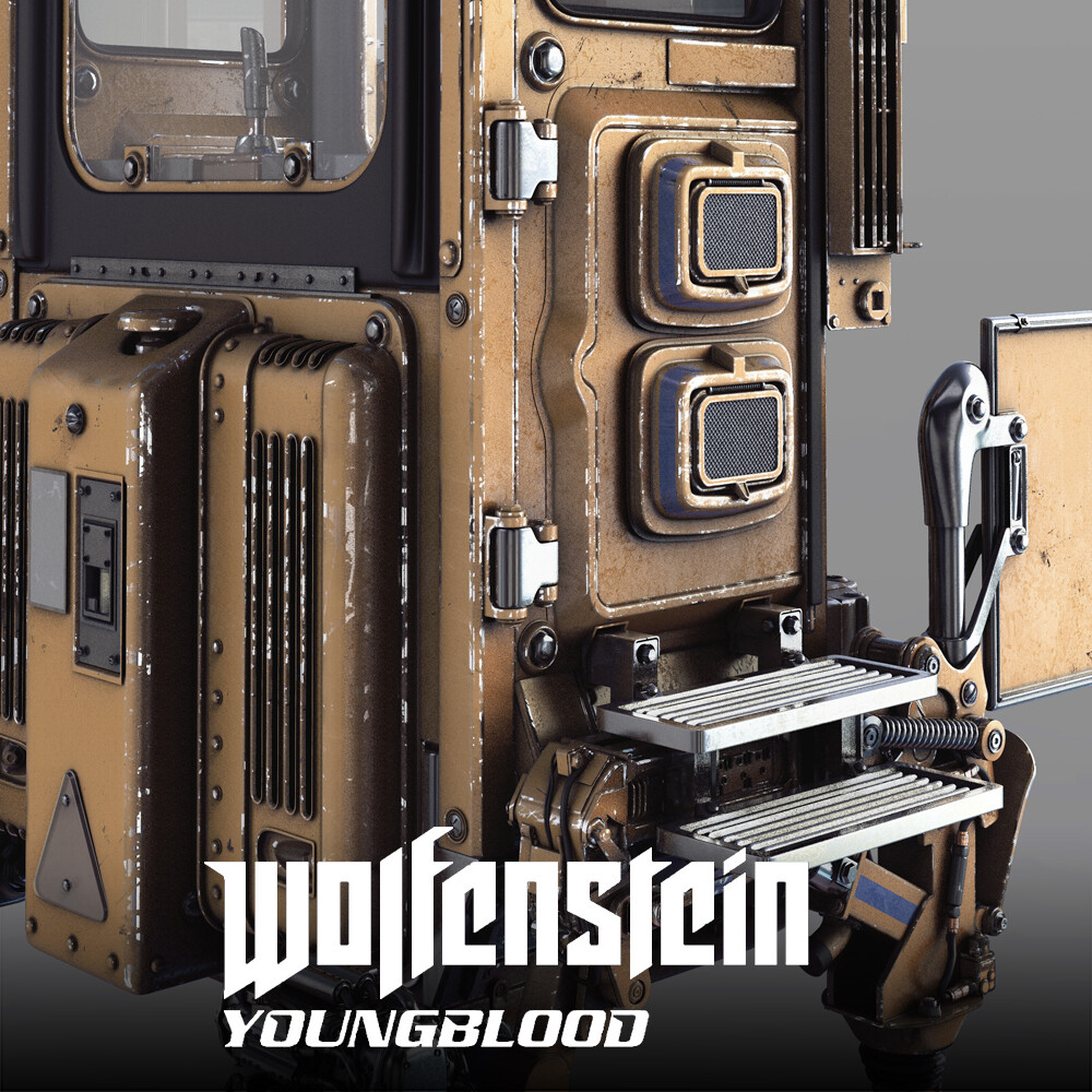 Wolfenstein: Youngblood - Control Booth HighPoly