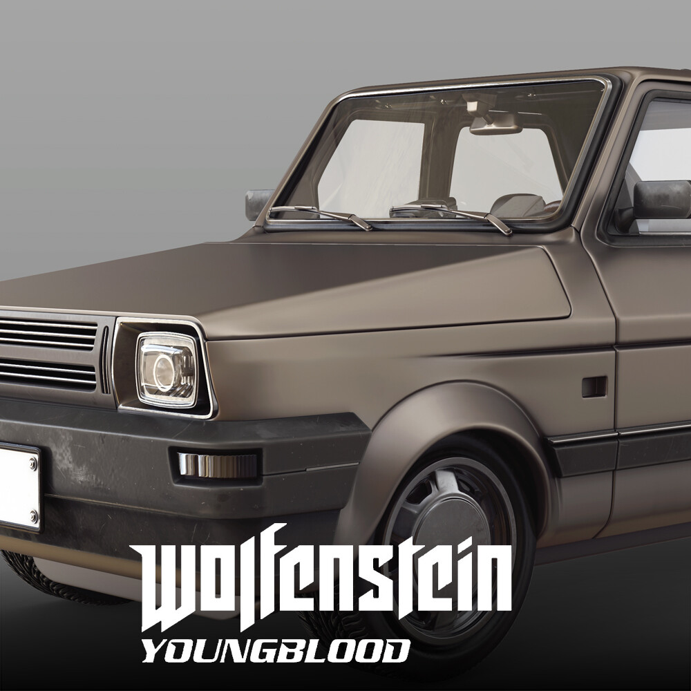 Wolfenstein: Youngblood - Civilian Car 1 HighPoly