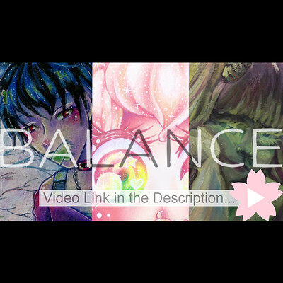 Nasika sakura balance art show yt thumbnail x for artstation