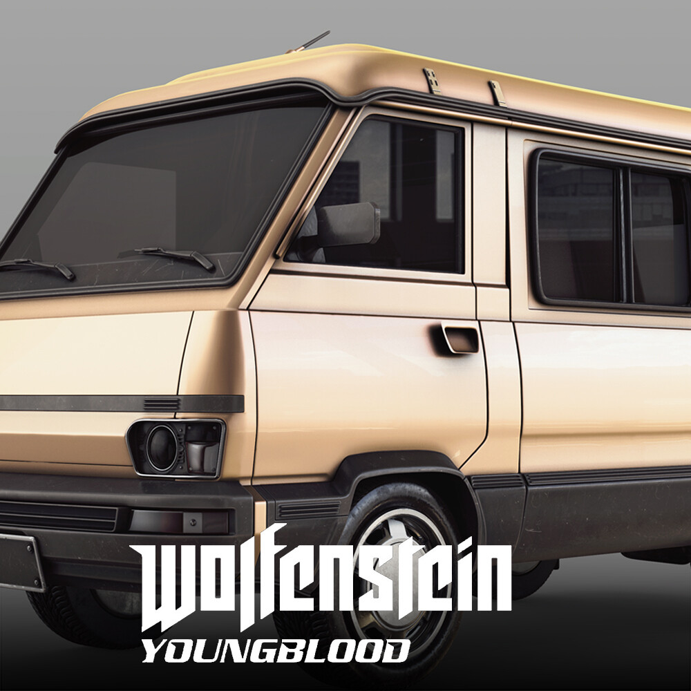 Wolfenstein: Youngblood - Van & Truck HighPoly