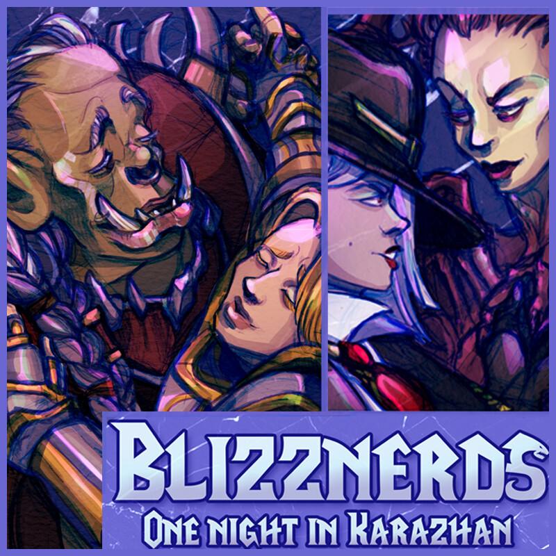 One Night In Karazhan: Blizznerds Key Art