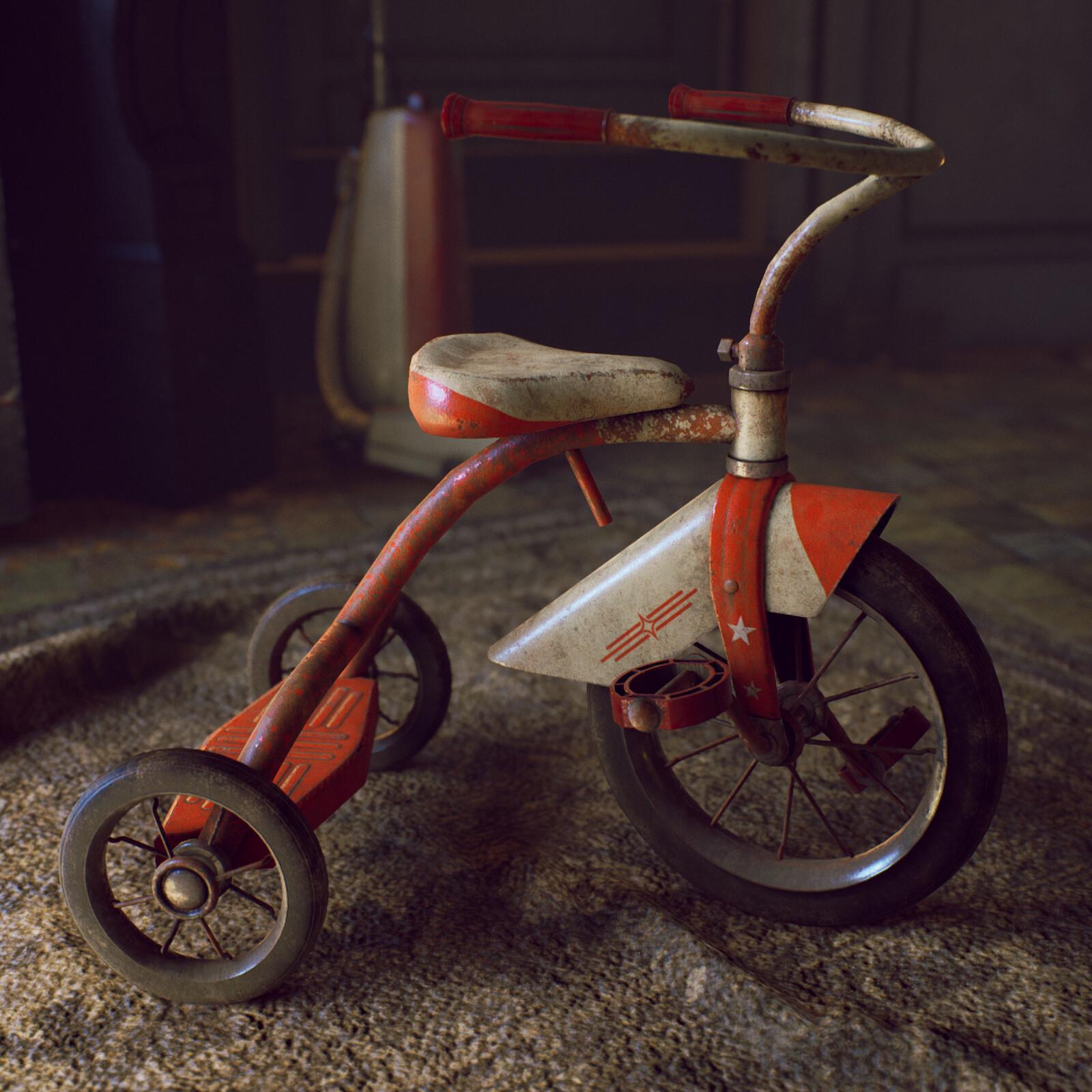 Vintage Tricycle - game asset