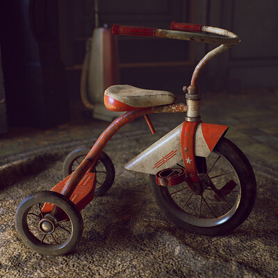 Vintage Tricycle - game asset
