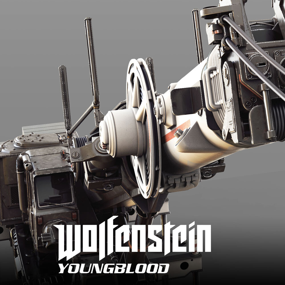 Wolfenstein: Youngblood - Construction Crane HighPoly