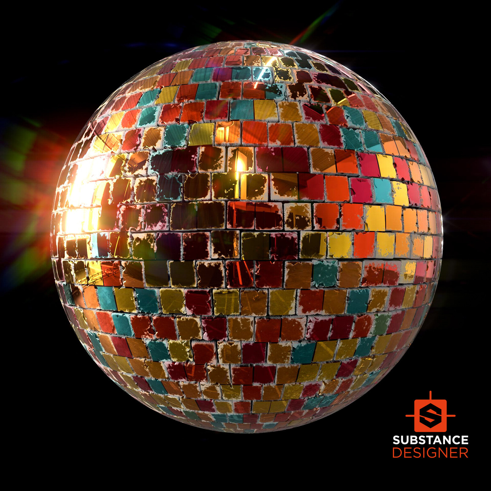 Disco Material - 100% Substance Designer