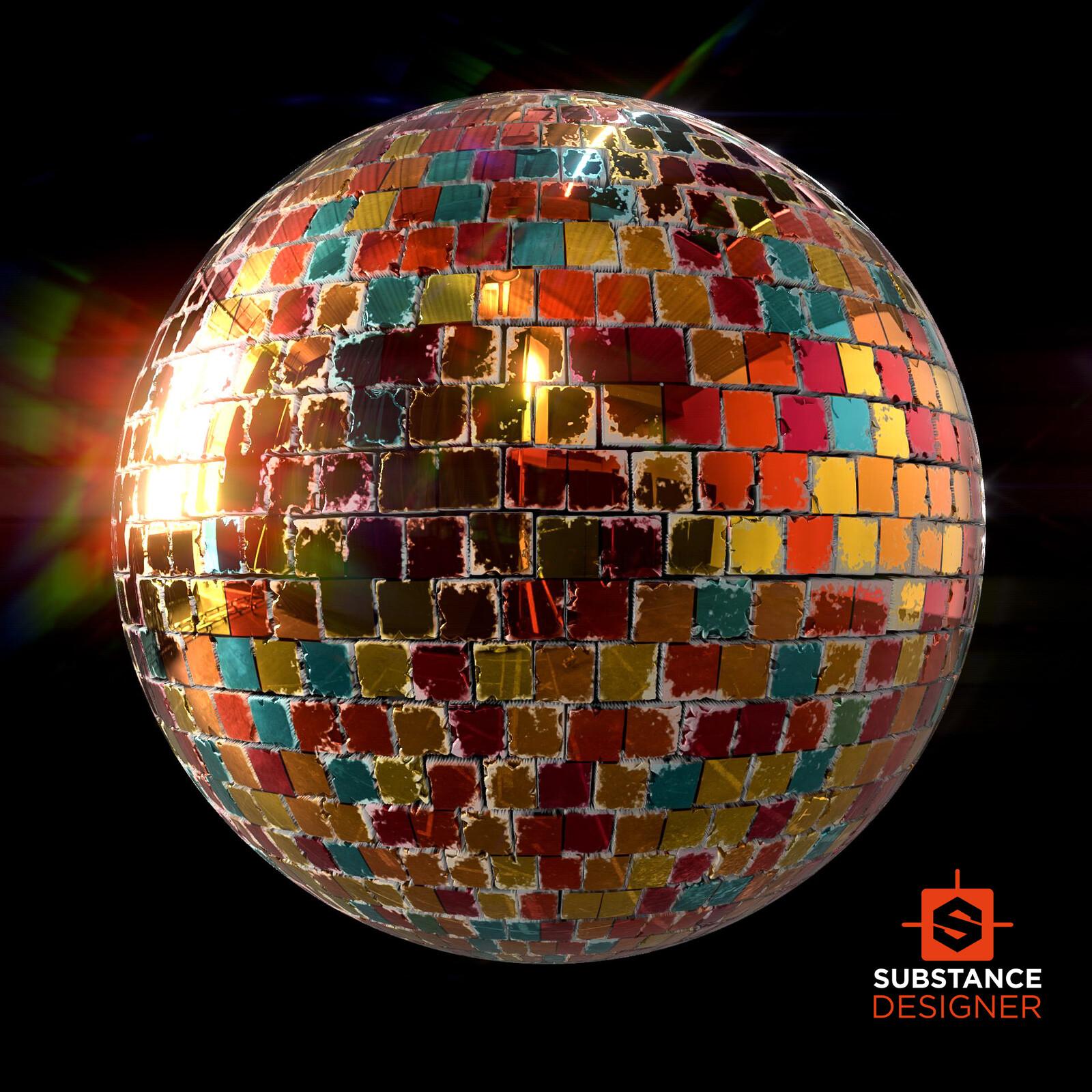 Disco Material - 100% Substance Designer