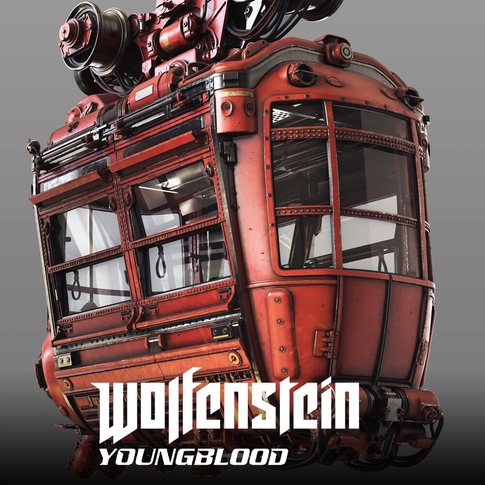Wolfenstein: Youngblood - Cable Car HighPoly