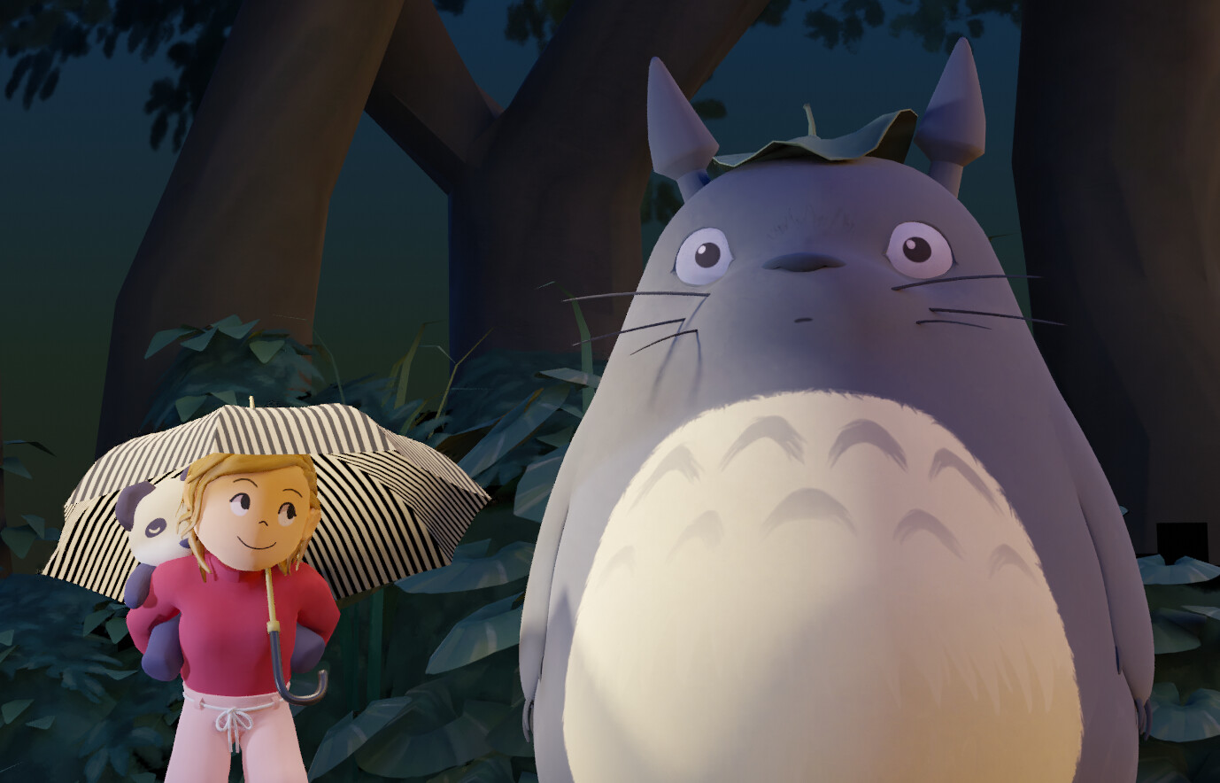 Sarah and Totoro