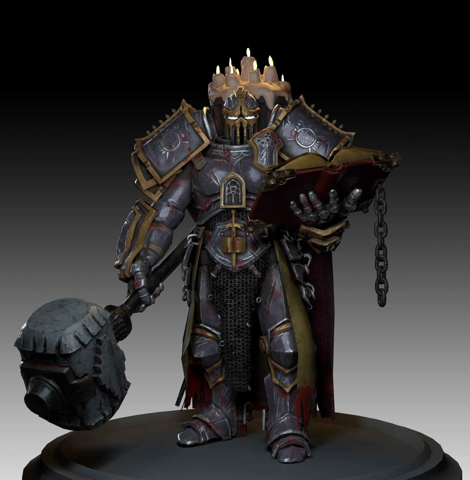 Dark Castle Warrior Game Character
