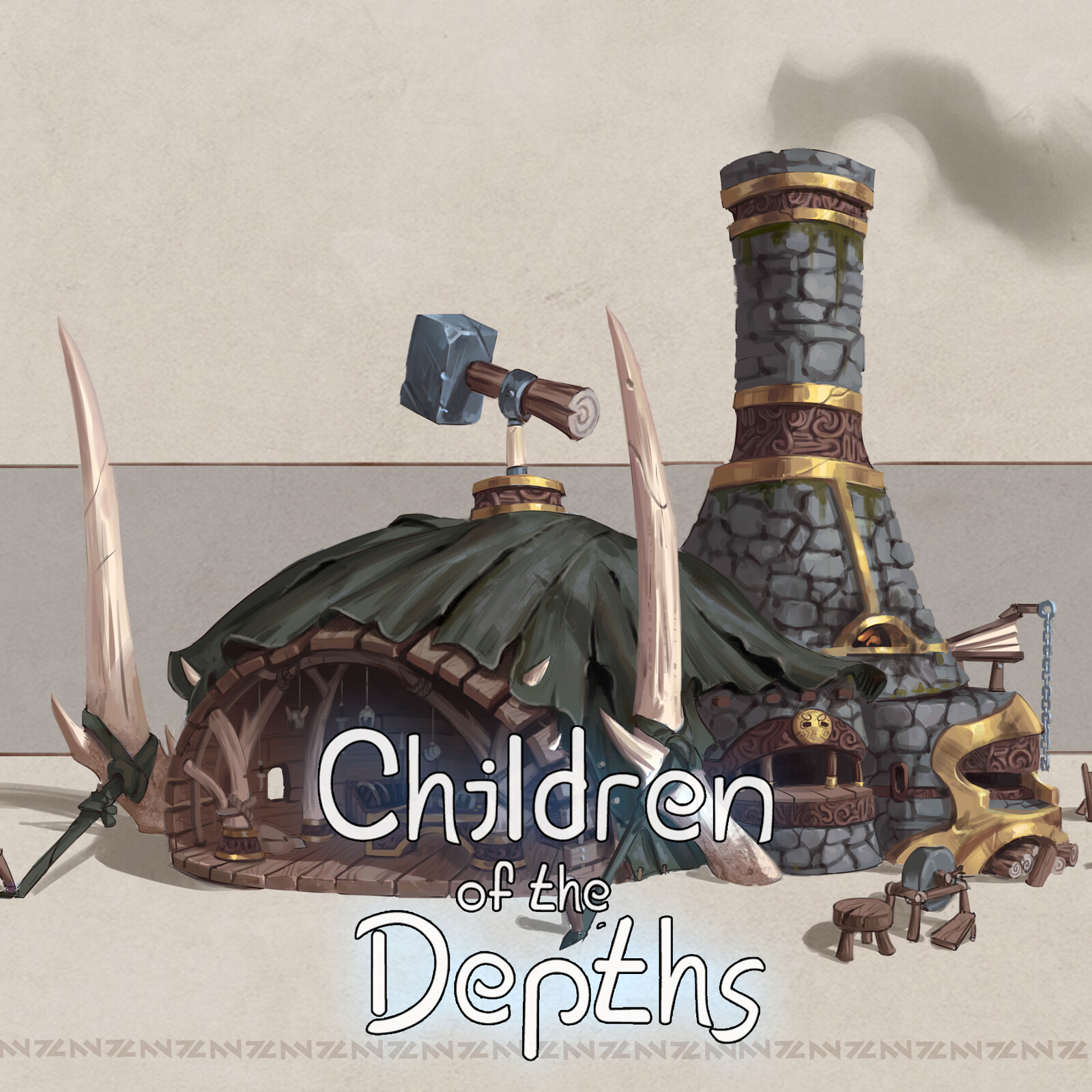 Children of the depths - Village blacksmith