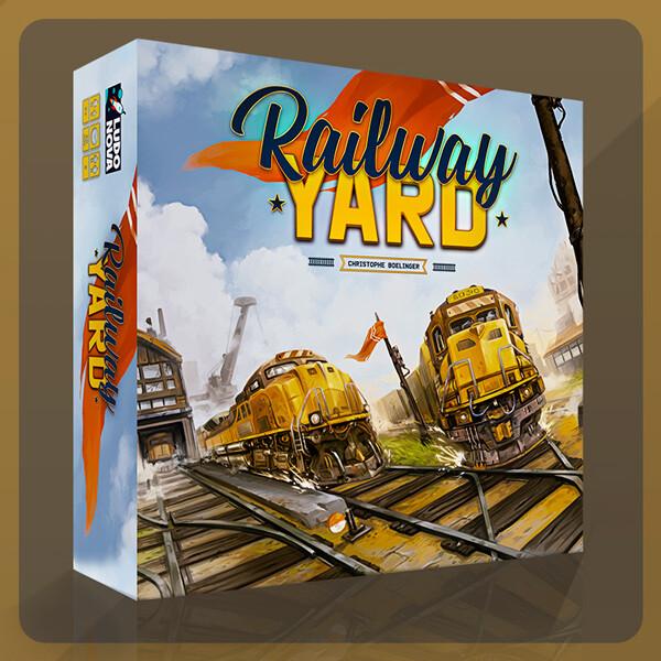 Railway Yard - Board Game Art