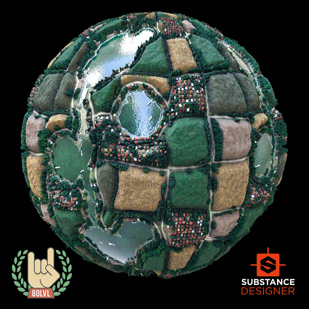 Advanced Village Material - 100% Substance Designer