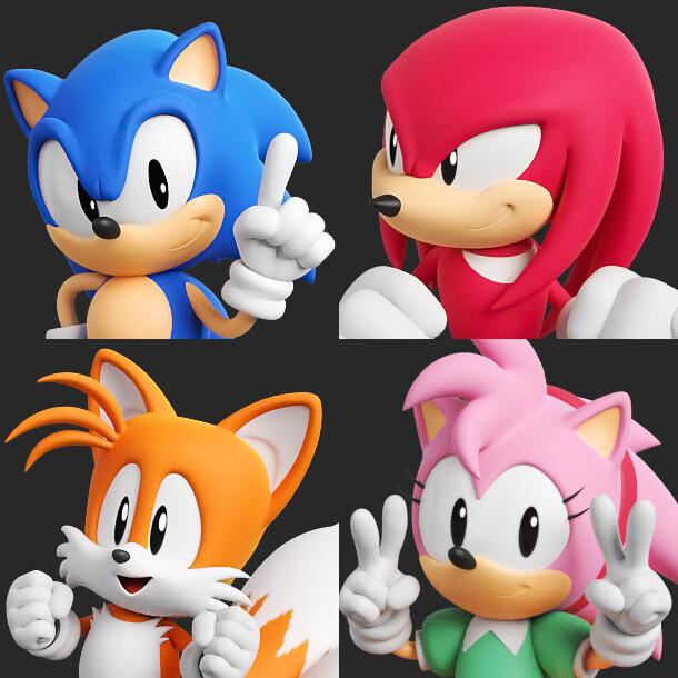Artstation Sonic The Hedgehog Toy Assets Pt 1 Rafa Knight