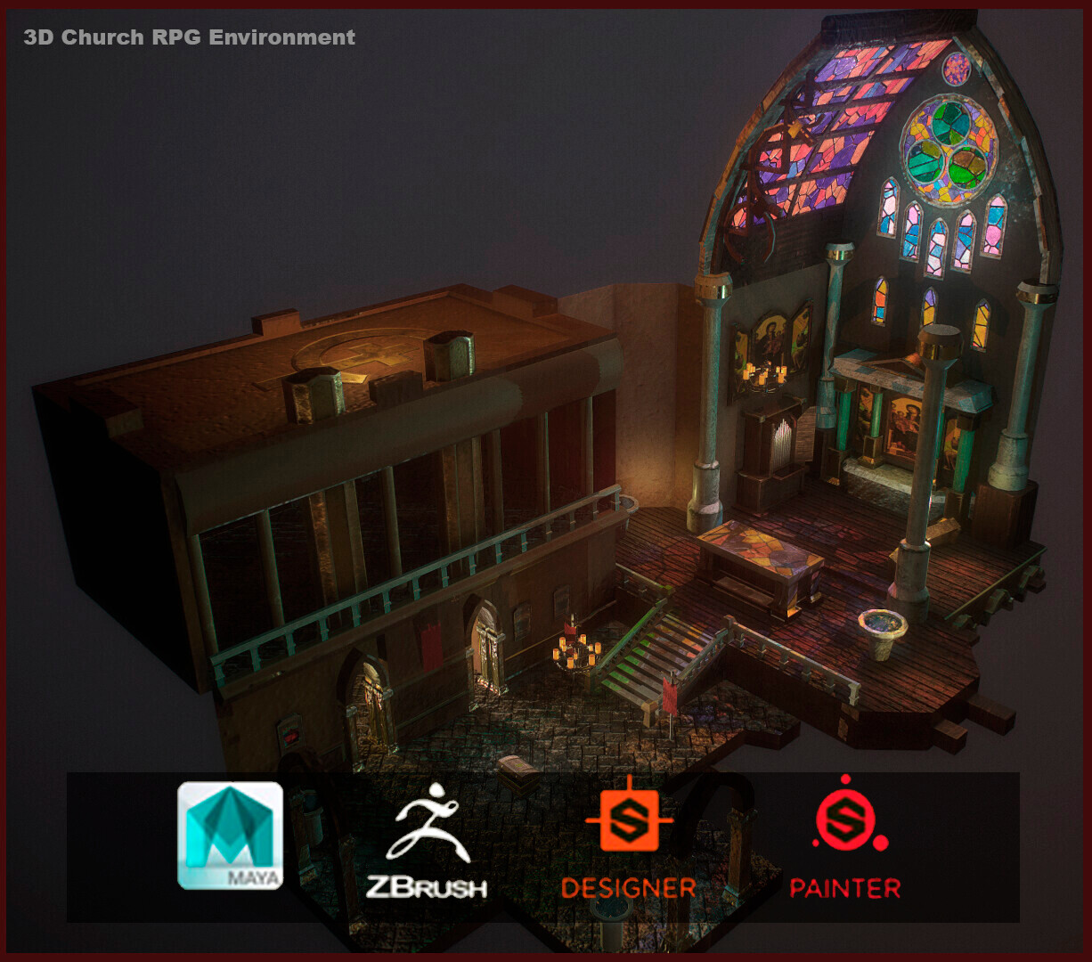 RPG Church - Full 3D Environment development