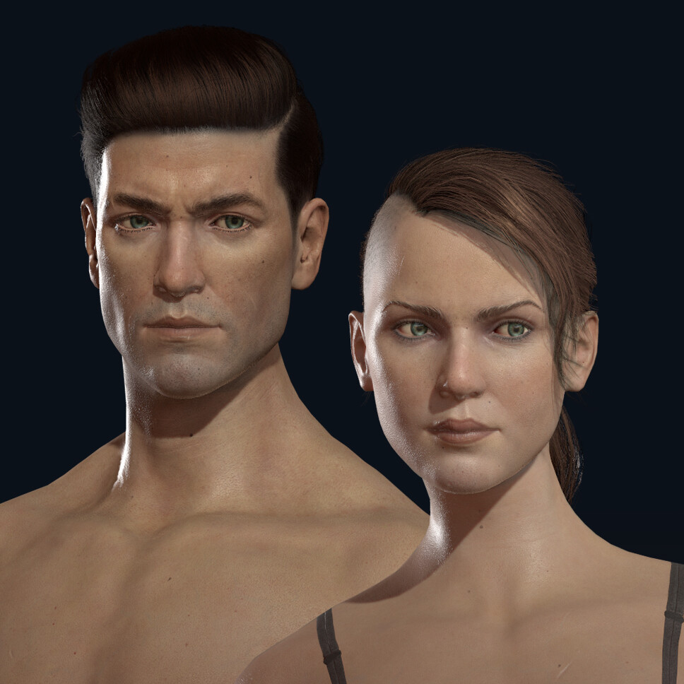 Human Male and Female Character Models - Unannounced Title