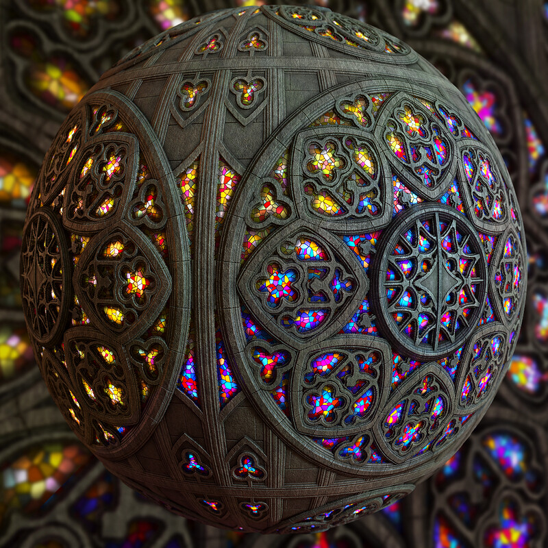 Rose Window Cathedral Substance