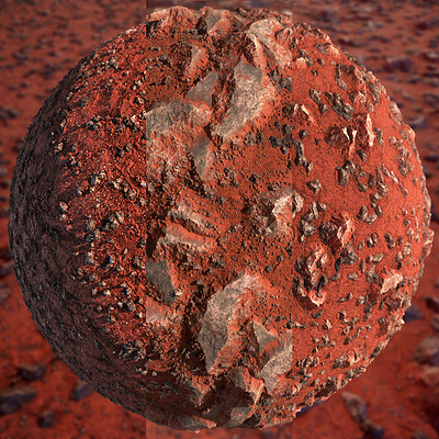 Desert Rock and Red Sand Substance