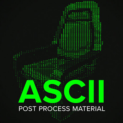ASCII Post Process Material - UE4