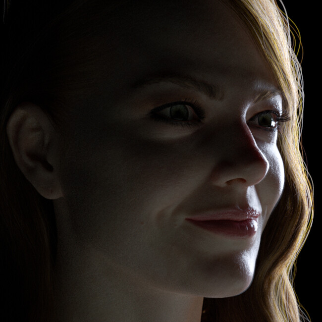 A Portrait of Emma (2019) - (Shading and Lighting in Vray Next)